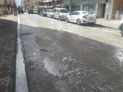 Cadde ve Kaldırımlarda Dezenfektan Çalışmaları