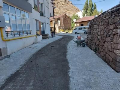 Yeni Cami Mahallesinde Kilitli Parke Taşı Çalışmaları