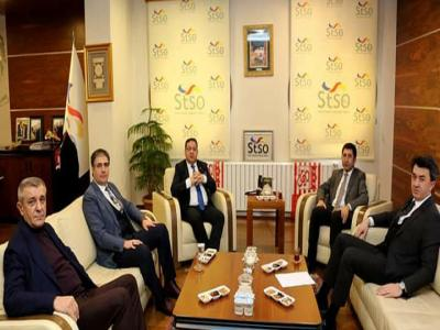 Başkan Çelik'ten STSO Yönetim Kurulu Başkanı Mustafa Eken'e Ziyaret