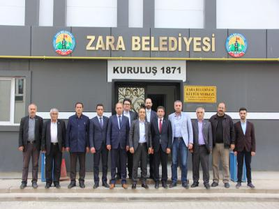 MHP Sivas Milletvekili Ahmet ÖZYÜREK, Zara Belediyesini ziyaret etti.