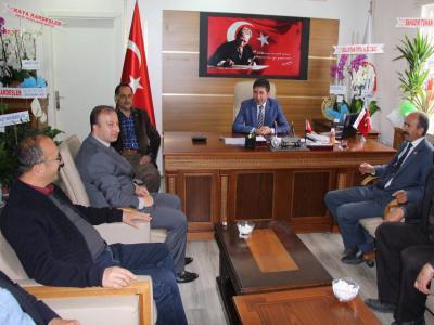 Ziraat Odası Başkanı Zeki Şimşek'den Belediye Başkanı Fatih Çelik'i ziyaret.