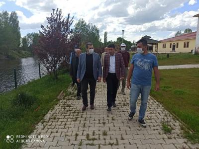 Başkan Çelik'ten İmranlı Kaymakamı Hasan Meşeli ve Belediye Başkanı Murat Açıl'a Ziyaret