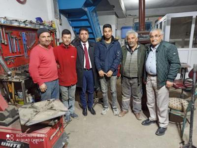 Başkan Çelik'ten Sanayi Esnafını Ziyaret