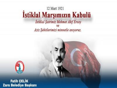 Bağımsızlığımızın Sembolü İstiklâl Marşımızın Yıl Dönümü Kutlu Olsun